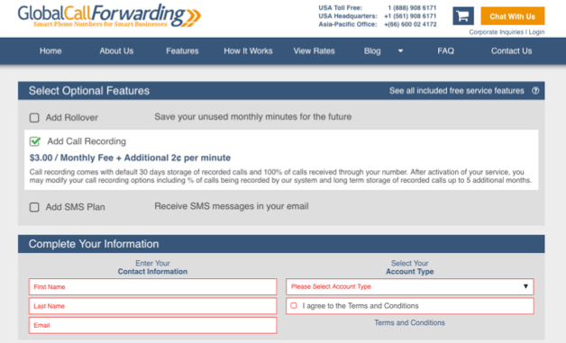 call recording cost - Global Call Forwarding